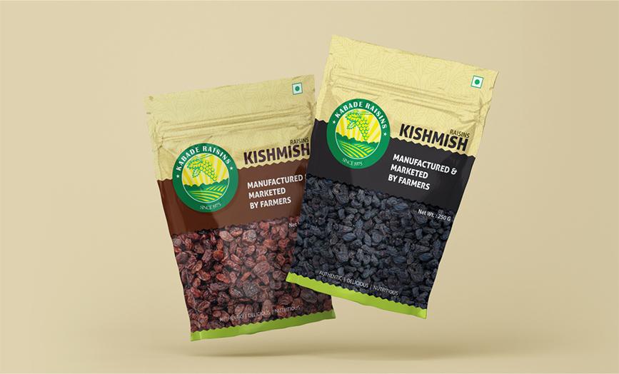 Kabade Raisins Packaging