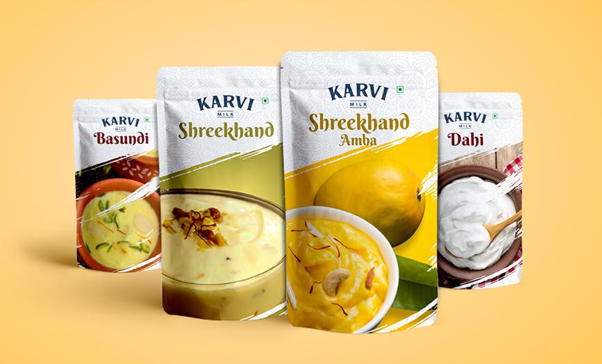 Packaging Karvi milk